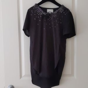 3.1 Phillip Lim black beaded top